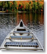 Canoe On A Lake Metal Print