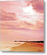 Cape May New Jersey, Sunset With Lighthouse In The Distance Metal Print