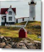 Cape Neddick Lighthouse 4 Metal Print