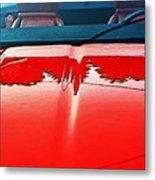 Car Hood Reflection Bump Map Metal Print