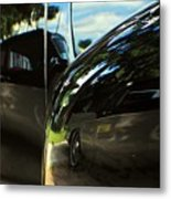 Car Reflection 8 Metal Print