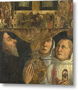 Cardinal Bessarion With The Bessarion Reliquary Metal Print