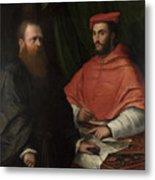 Cardinal Ippolito De Medici And Monsignor Mario Bracci Metal Print