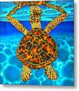 Caribbean Hawksbill Sea Turtle Metal Print