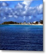 Caribbean Sea And Beach Metal Print