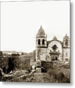 Carmel Mission By A.j. Perkins 1880 Metal Print