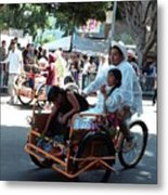 Carnival Cart Metal Print