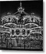 Carousel At Night Metal Print
