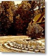 Carriage House Garden Metal Print