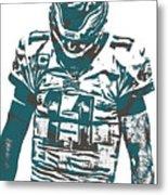 Carson Wentz Philadelphia Eagles Pixel Art 7 Metal Print