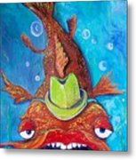 Catfish Clyde Metal Print