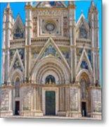Cathedral Of Orvieto, Duomo Di Orvieto, Umbria, Italy Metal Print
