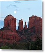 Cathedral Rock Moon 081913 A2 Metal Print