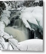 Cattyman Falls In Winter Metal Print