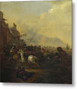 Cavalry Attacking A Fortified Place Metal Print