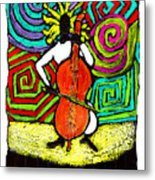Cello Soloist Metal Print