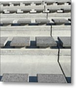Cement Seats Metal Print
