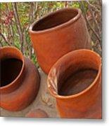 Ceramic Pots Metal Print