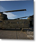 Ch-47 Chinook Helicopter On The Tarmac Metal Print
