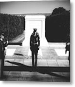 Changing Of The Guard At The Tomb Of The Unknowns At Arlington Metal Print