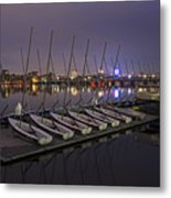 Charles River Boats Clear Water Reflection Metal Print