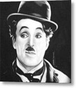 Charli Chaplin Metal Print