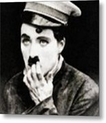 Charlie Chaplin, Vintage Actor And Comedian Metal Print