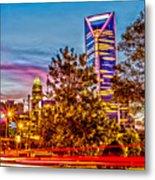 Charlotte City Skyline Early Morning At Sunrise Metal Print