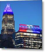 Charlotte North Carolina Skyline City View Metal Print