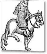 Chaucer: The Man Of Law Metal Print