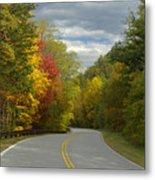 Cherohala Skyway In Autumn Color Metal Print