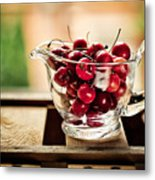 Cherries Metal Print