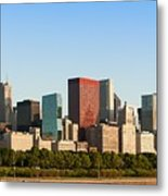 Chicago Downtown At Sunrise Metal Print