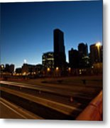 Chicago Skyline At Dawn Metal Print