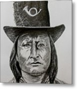 Chief Bird Arapahoe Metal Print