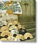 Chinese Fans Metal Print