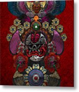 Chinese Masks - Large Masks Series - The Demon Metal Print