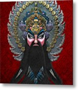 Chinese Masks - Large Masks Series - The Emperor Metal Print by Serge Averbukh