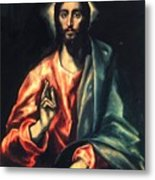 Christ As Saviour Metal Print