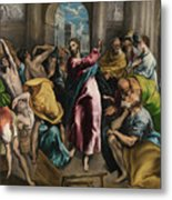 Christ Driving The Traders From The Temple Metal Print