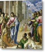Christ Healing The Blind Metal Print