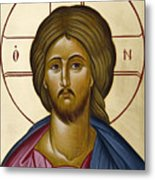 Christ Pantokrator Metal Print by Julia Bridget Hayes