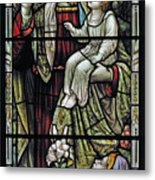 Christ With The Children. Metal Print