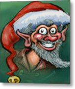 Christmas Elf Metal Print