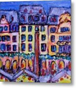 Christmas Market In Mainz Metal Print