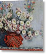 Chrysanthemums Metal Print by Claude Monet