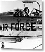 Chuck Yeager, Usaf Officer And Test Metal Print