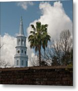 Church Bells Ringing Metal Print