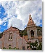 Church In Taormina Metal Print