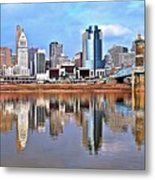 Cincinnati Reflects Metal Print